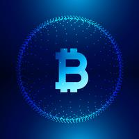 Fondo de tecnología digital para el símbolo de internet bitcoins