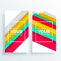 vetor de baners de listras coloridas abstratas