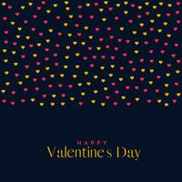 premium kärlek valentins dag bakgrund med hjärtan mönster
