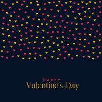 premium love valentine's day background with hearts pattern