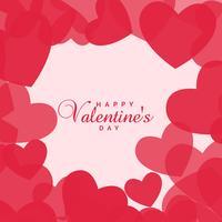 fond d'amour coeurs pour la Saint Valentin