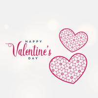 creative valentine's day background with decorative heart shape
