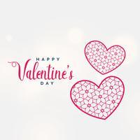 kreativ valentins dag bakgrund med dekorativa hjärtformar