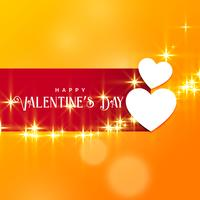 beautiful valentine's day background with sparkle effect