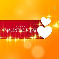 Hermoso fondo de San Valentín con efecto brillo.