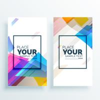 creative colorful abstract banner card set