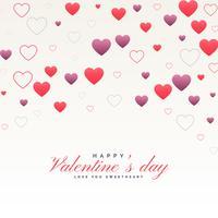 Reinigen Sie weißen Valentinstaghintergrund mit Herzmuster