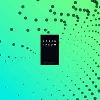 fundo verde com design de efeito de partícula