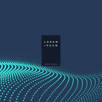 design de fond technologie particules bleues