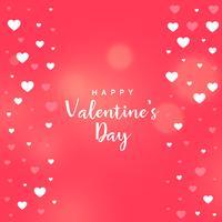 fundo de vetor de coração dia dos namorados rosa