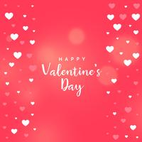 pink valentine's day heart vector background