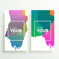 abstract colorful vertical banners design