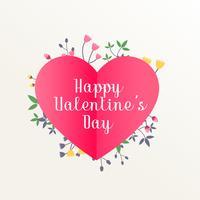 happy valentine's day beautiful background with flowers decorati