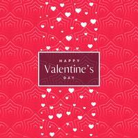 romantisk rosa valentins dagsmönster bakgrund med vit höra