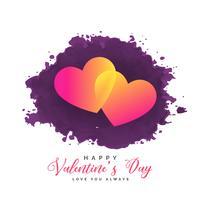 twee harten op grungeachtergrond voor de dag van de valentijnskaart