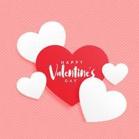 elegant valentins dag röd och vit hjärta bakgrund
