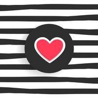 modischer Hintergrund mit Herzform