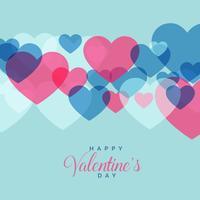 moderner Liebeshintergrund mit Herzform für Valentinstag