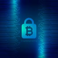 secured digital internet cryptocurrency bitcoin background