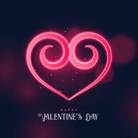 kreativ virvla runt hjärtformad design för valentins dag