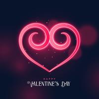creative swirl heart shape design for valentine's day
