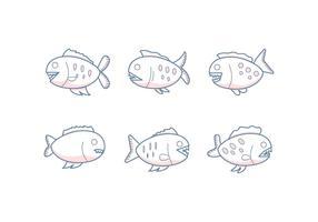 Gratis uitstekende Piranha-vectoren