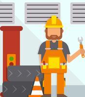 Iconic Repair Man Vectors