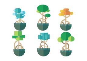Vettore gratuito di mangrovie