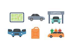 Gratis unieke carpoolvectoren