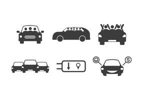 Kostenlose einzigartige Carpool Vektoren