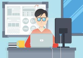 Software engineers vector