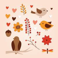 Éléments de la forêt d'automne