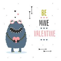 Be Mine Valentine Card Vector