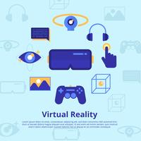 Realidad Virtual Experiencia Vector Illustration