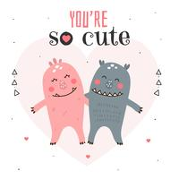 You're So Cute Card Vector