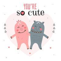 You're So Cute Card Vector