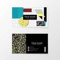Plantilla de tarjeta de visita de Memphis Design
