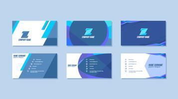 Blå grafisk design visitkort Gratis vektor