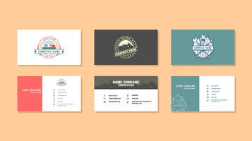 Vintage Graphic Design Business Card Vector