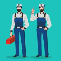 Repairman Vector Character Illustration