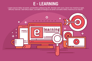 Ilustración de E-Learning Vector