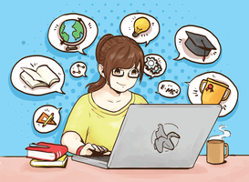 E-Learning-Vektor-Illustration