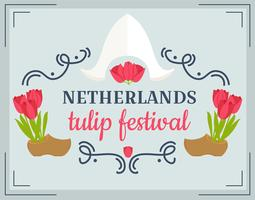 Netherlands Tulip Festival Vector