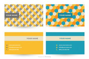 Geometric Graphic Design Business Card Vector Templates