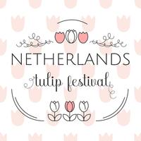Netherlands Tulip Festival Template Vector