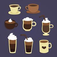 Vecteur de tasses à café