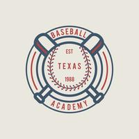 Emblema de beisbol vintage