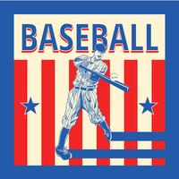 Vecteur de baseball vintage