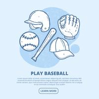 Vintage Baseball Vector Illustration