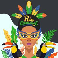 Illustration vectorielle de Rio Carnaval
